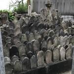 奈良市のお寺で無縁塚の整理工事にかかりました