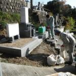 大淀町の現場がついに石碑工事完了です。でもまだまだ続きます
