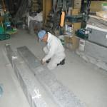 大和高田市土庫墓地の巻石を加工しました。