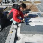 橿原市営香久山墓園で新規お墓の建立工事にかかりました。
