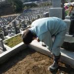 橿原市営香久山墓園で新規墓石建立工事を着手しました。
