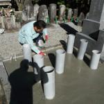 桜井市内で、お墓の移設、耐震施工をいたしました。