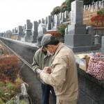 橿原市営香久山墓園で耐震墓石完成いたしました。