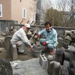 奈良市内で無縁塚墓石の整理工事をいたしました。