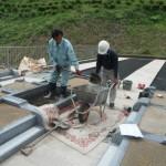 香久山墓園、壺阪山霊園で墓石工事に着手しました。