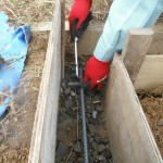 大和高田市の土庫墓地で巻石の基礎工事完了しました