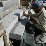大淀町で階段石の取り付けをして、橿原市営香久山墓園で商談いたしました。