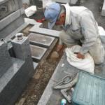 橿原市で墓石の耐震化とリフォームをいたしました。