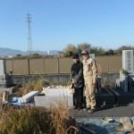 大和高田市の土庫墓地で、巻石を取り付けしました。