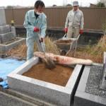 大和高田市の土庫墓地で巻石工事が完成しました。