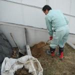 桜井市で新規お墓の工事着手をいたしました。