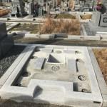 新春早々に、香久山墓園でお墓の基礎工事完了しました。
