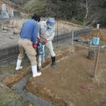 奈良市で墓石の工事(巻石施工から)を行っています。