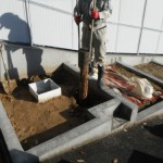 桜井市でお墓の工事を開始しました。