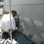 橿原市内で外壁に石を貼り付けた一部リフォーム工事をいたしました。