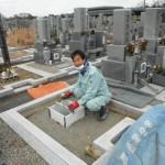 橿原市の市営香久山墓園で新規墓石工事に着手しました。
