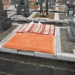 橿原市の市営香久山墓園で基礎コンクリート工事(養生散水)しました。