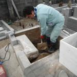 橿原市でお墓(墓石)工事に着手しました。