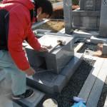 橿原市の橿原市の市営香久山墓園で墓石の耐震工事をいたしました。
