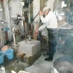 工場での加工作業につづき、高取町の墓石工事をいたしました。