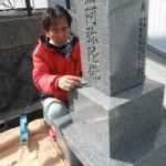 桜井市内で(新規墓石)お墓の仕上げ工事をいたしました。