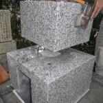高取町で墓石の石材取付作業をいたしました。