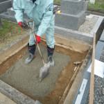 桜井市で新規巻石、墓石工事に着手しました。