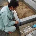 橿原市内で、新設の巻石の取り付けをいたしました。