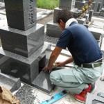 香久山墓園で墓石工事を完成いたしました。