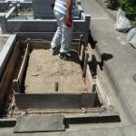 大和郡山市の市営墓地で巻石工事に着手しました。