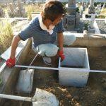 橿原市営香久山墓園で、2件の墓石工事に着手しました。