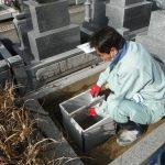 新規お墓の建立工事(新年の初仕事です)