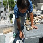 梅雨の晴れ間に橿原市営香久山墓園でお墓の新築工事を完成させました。