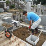 連休前に建築工事とお墓の2件の工事を完工いたしました。