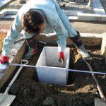 橿原市営香久山墓園でお墓墓石の新設工事と雑草対策工事、巻石の修繕工事に着手しました。