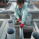 橿原市営香久山墓園で新規のお墓工事に着手しました