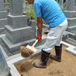 橿原市営香久山墓園で新規お墓の工事にかかりました。