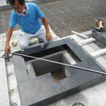 橿原市営香久山墓園でお墓の新設工事を進めています